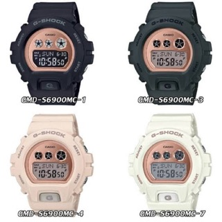 ใหม่ก่อนใคร CASIO G-SHOCK รุ่น GMD-S6900  GMD-S6900MC-1 GMD-S6900MC Metallic Mirror Rose Gold Face ประกัน Cmg