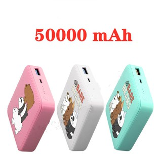 New Style Mini Cute PowerBank 50000mAh แบตเตอรี่สำรอง Power Bank Cute Large Capacity 2A Fast Universal C