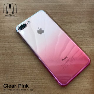 Review Clear Pink เคสใส นิ่ม ชมพู  iPhone XSMax / XR / XS / X / 8 8 Plus / 7 7 Plus / 6 6 Plus / 6s