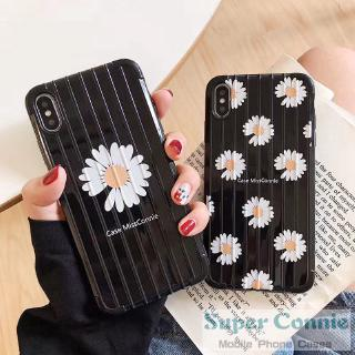 Review iPhone 7plus 6splus 6 6s 7 8 Plus X XR XSMAX 11 11pro 11promax Trunk Style Daisy Flower Paint Phone Balck Cover