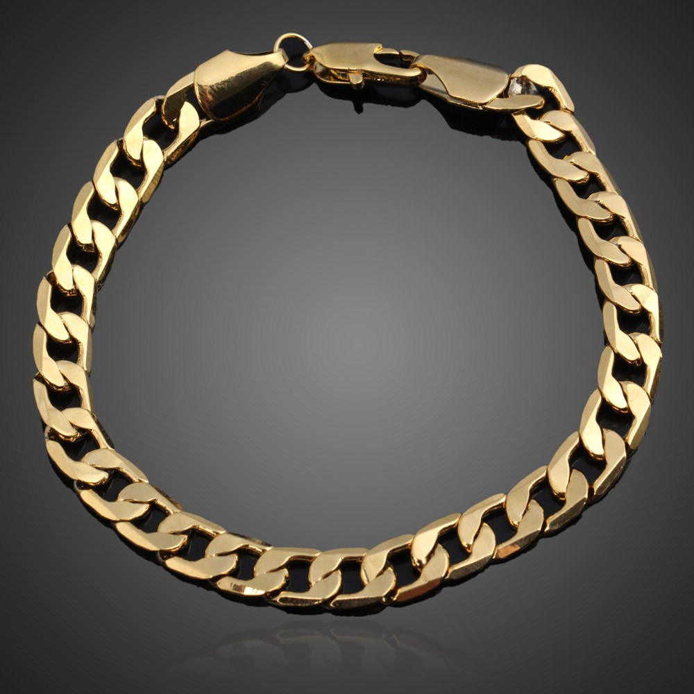 Image # 4 of Review มีสินค้าGorgeous Gold Plated Chunky Link Chain Bracelet Bangle Gift for Women