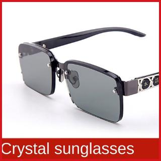 Natural crystal stone sun glasses men's and women's anti-ultraviolet radiation driving fishing driver sunglasses cool glasses
