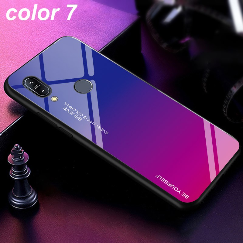 Image # 5 of Review ASUS Zenfone Max Pro M1 M2 ZB601KL ZB602KL ZB631KL ZB633KL Fashion Design Mixed Color Glass Back Cover Case