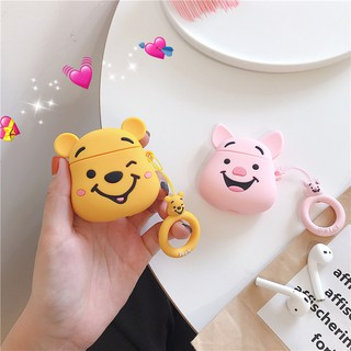 🚚3D Cartoon Airpods Earphone Case Cute Wireless Bluetooth Headset Airpods 2 Silicone Soft Charging Protectio