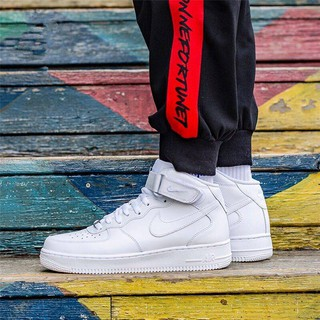 Review ▪⊙Xuan yao tai qiu dong aj1AF1 Nike air force one high help low sneakers men's shoes for women's small white students