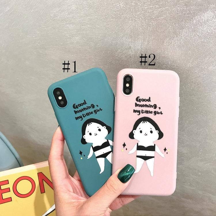 Review My little Girl Printing Case for iPhone 6 6s 7 8 Plus X XS XR XSMax Soft Silicone Back Cover Casing