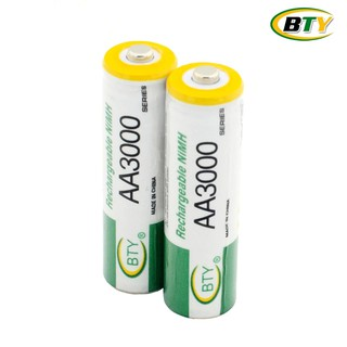 BTY ถ่านชาร์จ AA 3000 mAh NIMH Rechargeable Battery 2