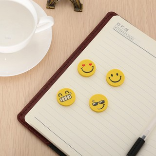 Miley✨12pcs Cute Funny Emoji Smile Face Rubber Pencil Eraser Students Stationery Gift