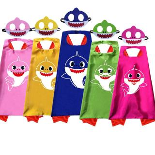 The best Tngstore Baby Shark Cosplay Costume Mask Cape Ready Stock Party Halloween