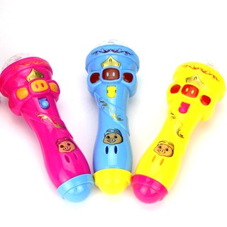 1- Joyful Flash Sticks Singing Music Kid Toy Luminous Microphone Karaoke Xmas