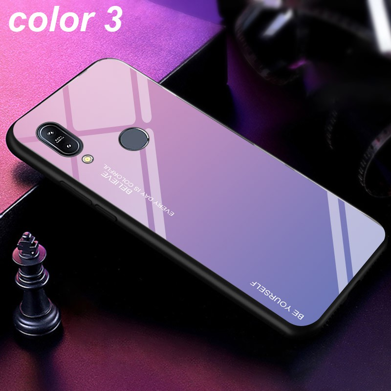 Image # 3 of Review ASUS Zenfone Max Pro M1 M2 ZB601KL ZB602KL ZB631KL ZB633KL Fashion Design Mixed Color Glass Back Cover Case