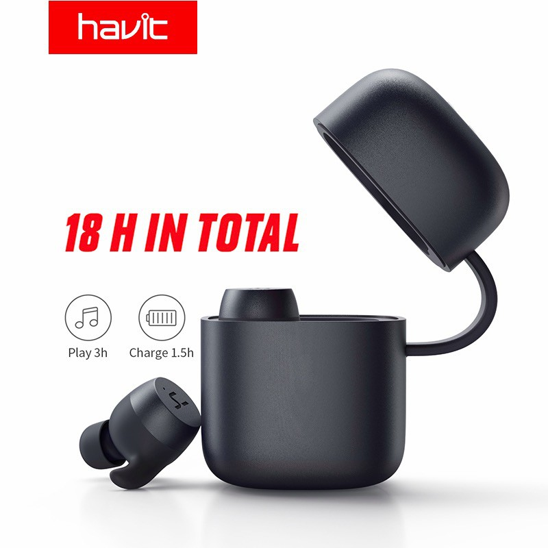 Image # 2 of Review 2019 NEW Havit G1pro Bluetooth Earphone Wireless TWS Sport Headset IPX6 Touch Screen Panel Earbuds With Microphone Bilat