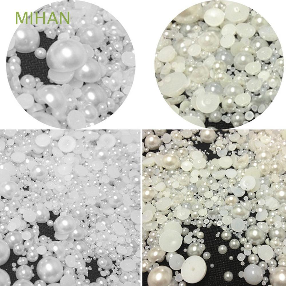The best 1000pcs New Mixed Size Decoration DIY Craft Half Round Pearls