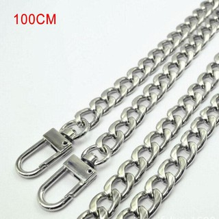 Review สายกระเป๋าPurse Chain Strap Handle Shoulder Crossbody Handbag Replacement 100CM Silver
