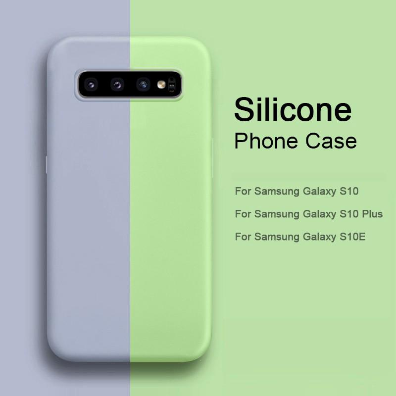Review Samsung Galaxy S10 Plus Case Liquid Silicone Cover Original Casing S10+ S10E