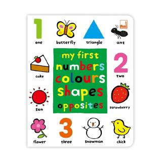 Pelangi หนังสือเด็ก My First Numbers Colours Shapes Opposites
