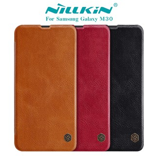 Review NILLKIN เคส Samsung Galaxy M30 รุ่น Qin Leather Case