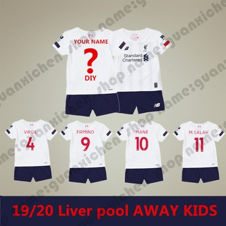 19-20 Liverpool away ฟุตบอล Soccer เสื้อ footbal For Kids Children Boys And