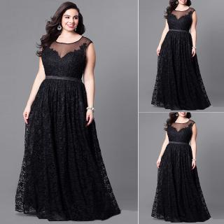 Review Crew Neck Causal Plus Size Lace Gifts Solid Sleeveless Summer Long Maxi Women Dress