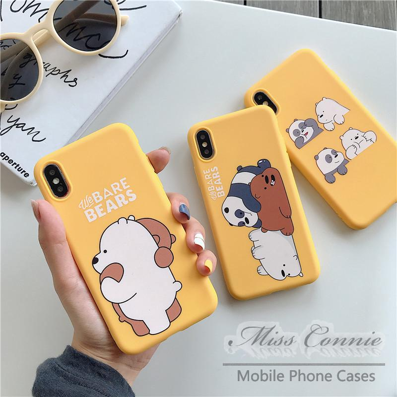 Cute Lovely We Bare Bears Soft TPU Case for Oppo Reno 2f A31 2020 A9 A5 2020 A37 A3s A71 F1s F5 F7 F9 A7 A83 A57 A39 A77 F3