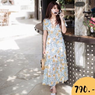 Review Floral maxi dress vol.5