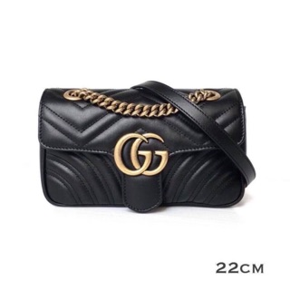 "Review New Gucci marmont mini 22"" สีดำ"