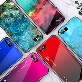 Review NEW OPPO Realme 3 Pro X C2 Reno Z 10X ZOOM F11 Pro Gradient Marble Phone Cover เคสโทรศัพท์มือถือ