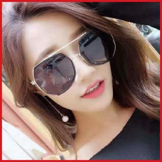 Fashion Korean style new sun glasses men's TikTok same style men's and women's lovers' sunglasses driver driving clam glasses fashion