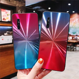 Review Vivo X27 Pro X23 V15 Y83 Y81 Y89 Y85 Y73 Y79 Y67 Y66 V5 V9 Gradient CD Flash Phone Case Mirror Cover