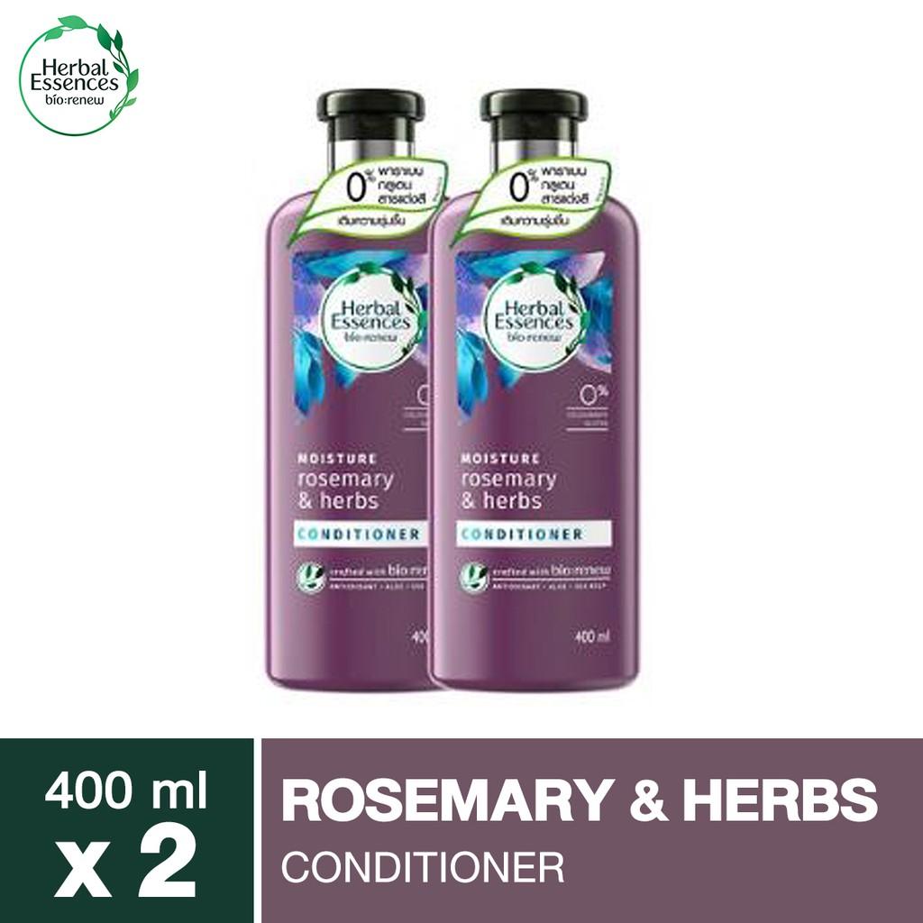 Herbal Essences Rosemary & Herbs Conditioner 400ml เฮอร์บัลเอสเซนท์ครีมนวดโรสแมรี่เฮิร์บ400มล X 2 p&