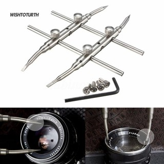 ☼WT Pro Stainless Steel DSLR Camera Lens Repair Kit Spanner Wrench Open