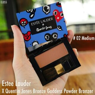 Review Estee Lauder X Quentin Jones Bronze Goddess Powder Bronzer # 02 Medium