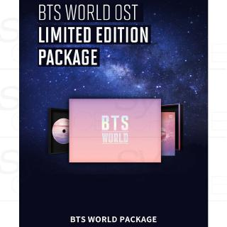 Review BTS WORLD OST Limited Edtion Package CD+ManagerIDCASE+Card+Magnet+Etc