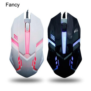เครื่องเล่นเกม fanc_colorful Breathing Game USB Wired Mouse Laptop PC DPI