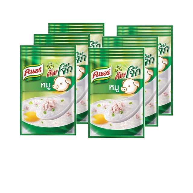คนอร์ บิ๊กคัพโจ๊ก ชนิดซอง รสหมู (55 กรัม x แพ็ค 4) x6 Knorr UNILEVER