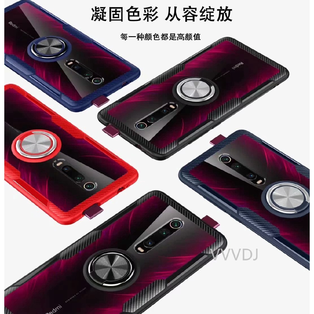 Image # 2 of Review Xiaomi Mi 9T Pro Mi9TPro Case Hard With Ring Stand Magnet Transparent Protective Back Cover case xiaomi mi 9t mi9t shell
