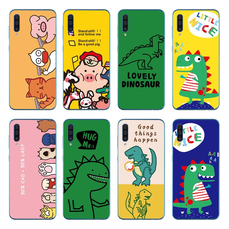 Review เคส Cute Dinosaur Soft Cover Samsung Galaxy A70 A50 A40 A30 A20 A10 TPU Case