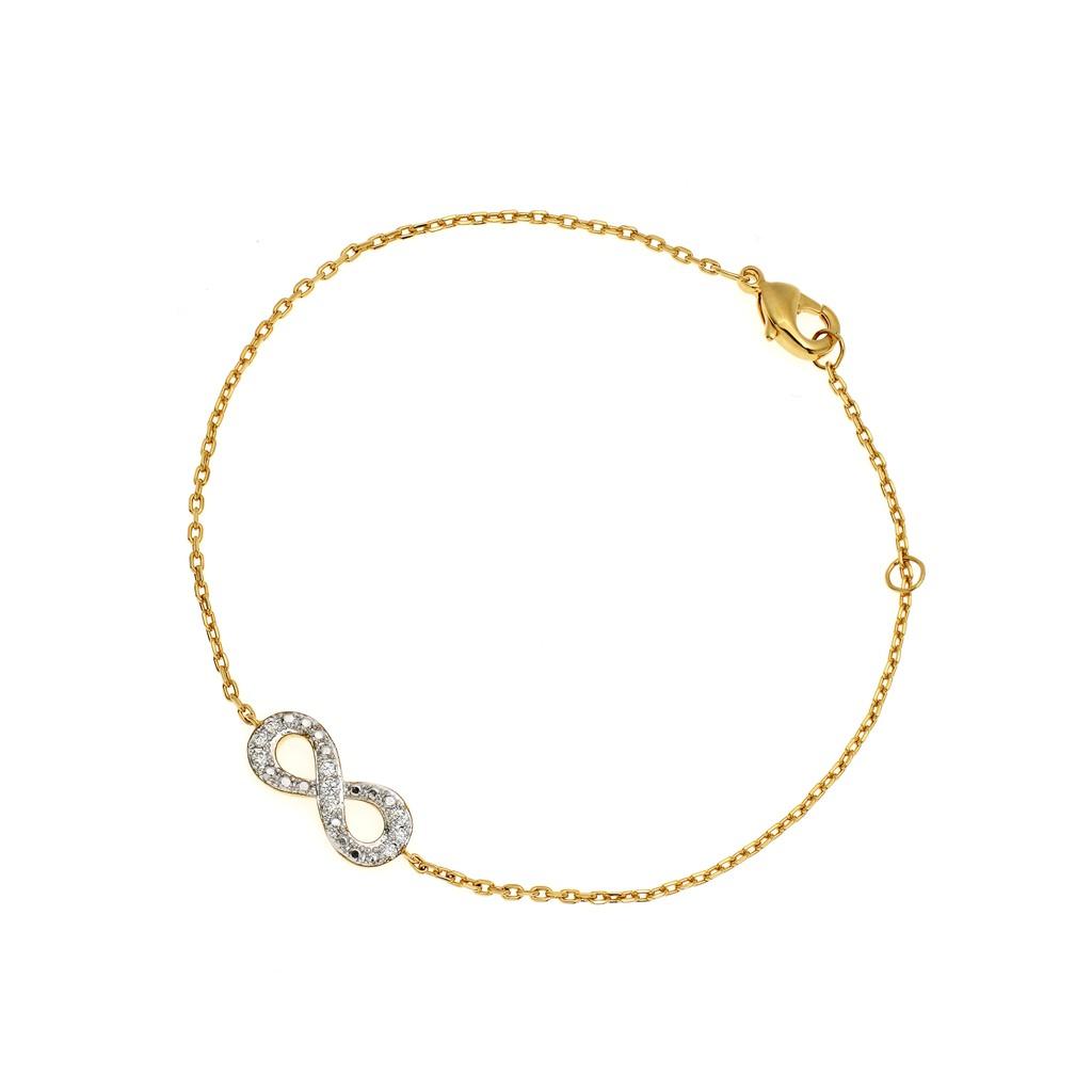 Jewelry Buffet สร้อยข้อมือ infinity ชุบทอง 18k