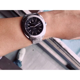 Review GUCCI BLACK DIAL WATCH #ya142401