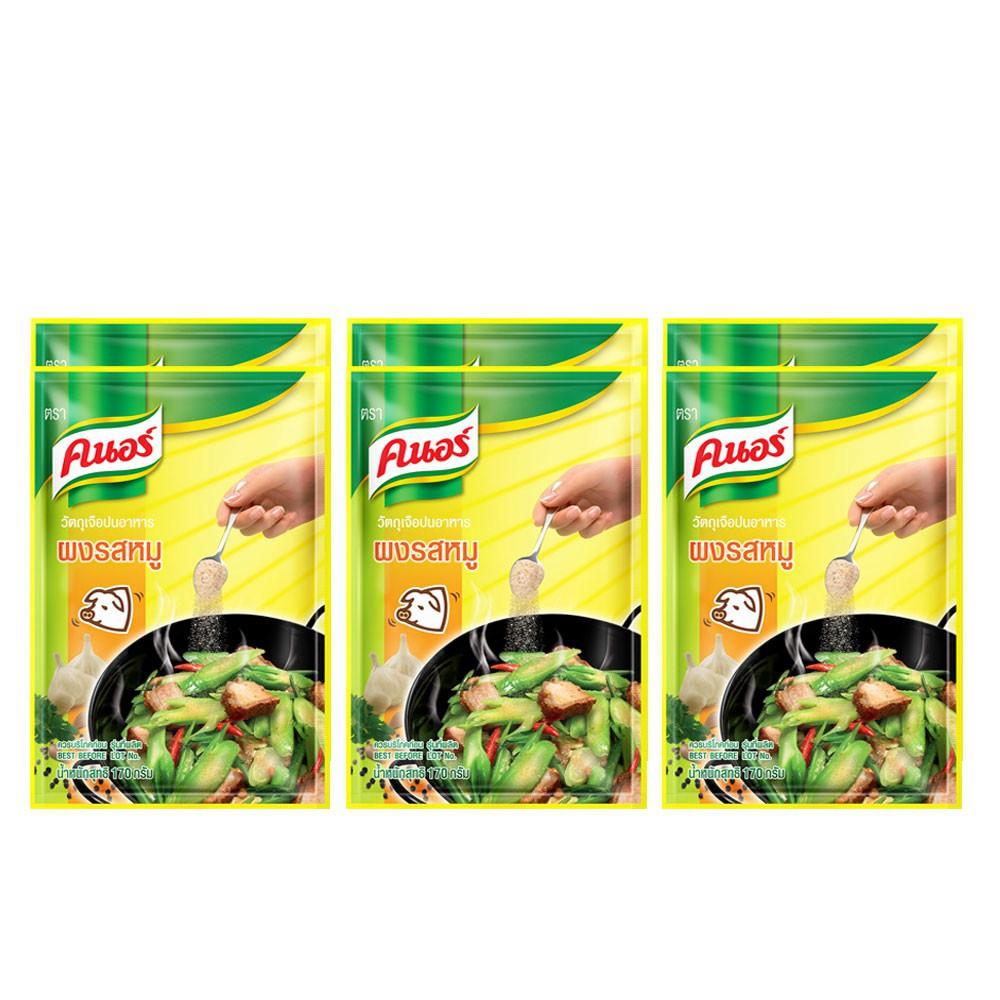 คนอร์ ผงปรุงครบรสไก่/หมู 170 กรัม (แพ็ค 6) Knorr UNILEVER