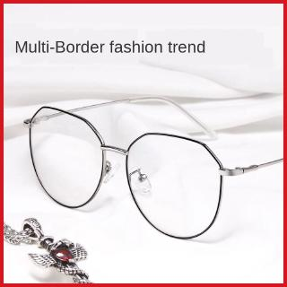 Myopia glasses for women with degrees polygonal round face glasses frame for men small face Korean style fashionable with eyes online popular