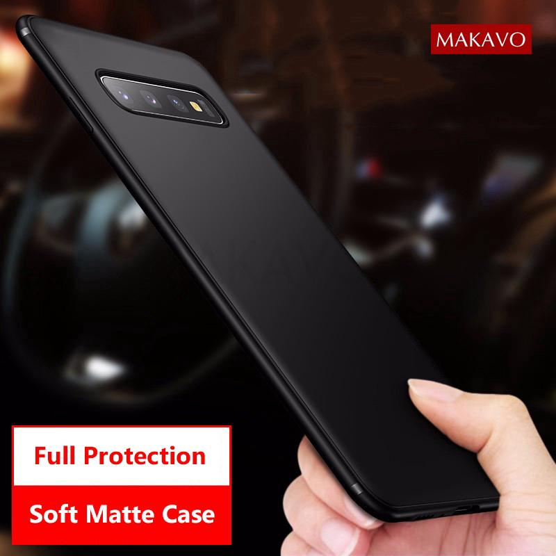 Review Samsung Galaxy S10 S10 Plus S10e S9 S9 Plus Note9 8 Case Slim Matte Soft Cover Cases Phone Casing