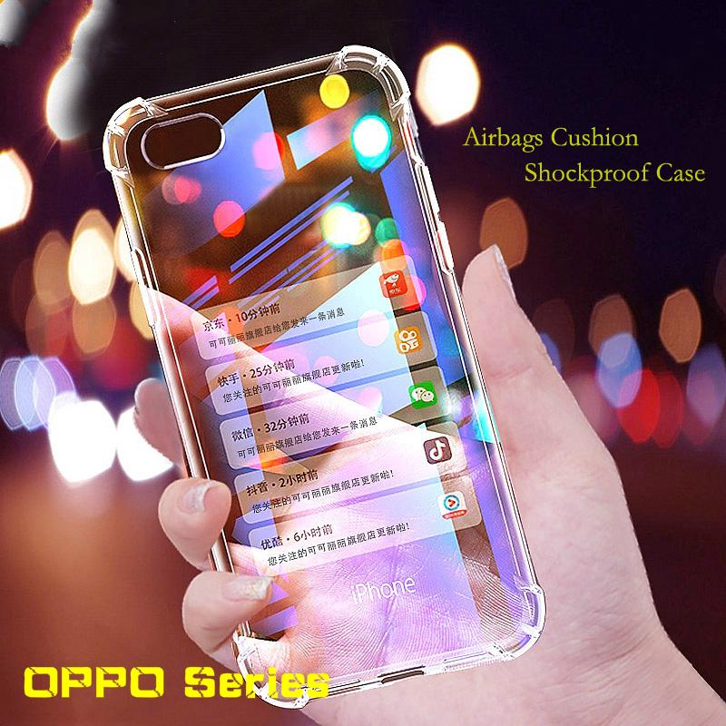 Review เคสใสกันกระแทก Air Bag Phone Case For OPPO RX17 Neo F11 R17 AX7 Pro Realme 3 2 Pro C1 TPU Case