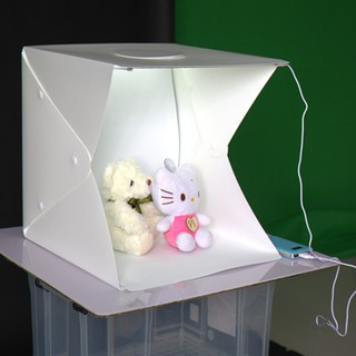 Image # 1 of Review Ifone Portable 40CM Photography Lighting Cube Tent Photo Studio Light Box 2-LED-Strips