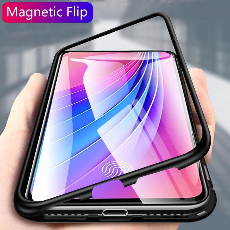 Review Magnetic Case Vivo V15 Pro S1 Y95 Y91 V11 V17 Pro V11i V9 Y85 Y17 Y12 Y15 Y3 Z5X Z1 Pro Clear Tempered Glass  Back Cover