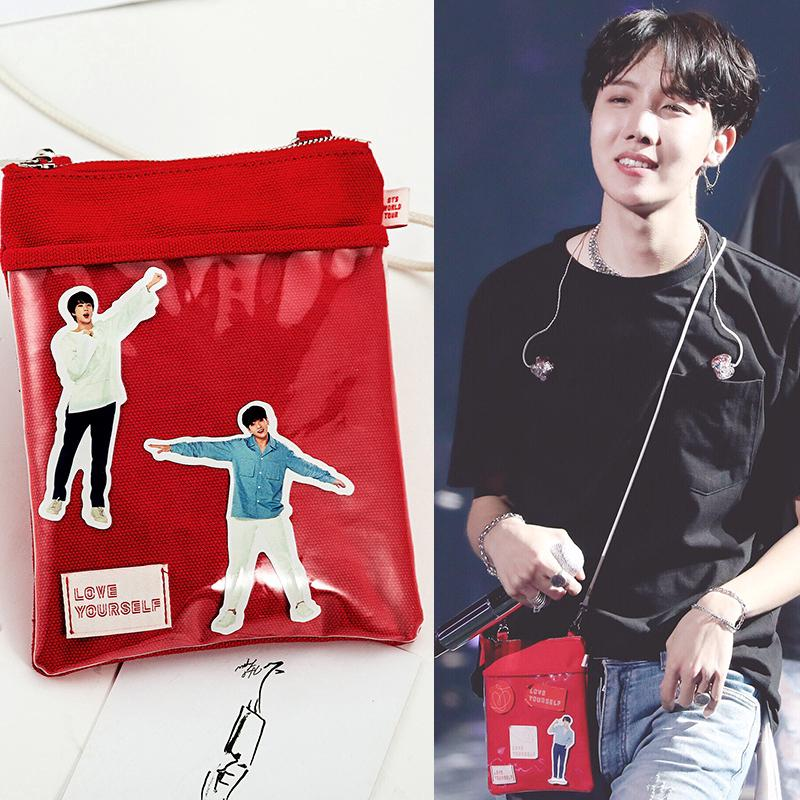 Review Kpop BTS LOVE YOURSELF Concert Mini Canvas Sling Bag Shoulder Cell Phone Pouch