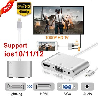 Lightning to HDMI/HDTV/VGA/Audio cable Adapter For iPhone 6S 7 7 Plus 8 X XS Ipad Air