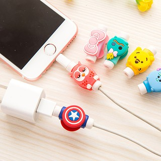 Review 1pcs Cartoon Cable Bite Protection Animal Cable Protector ตัวงับสายชาร์จ Charger Cable Protector  Toy Iphone Accessory