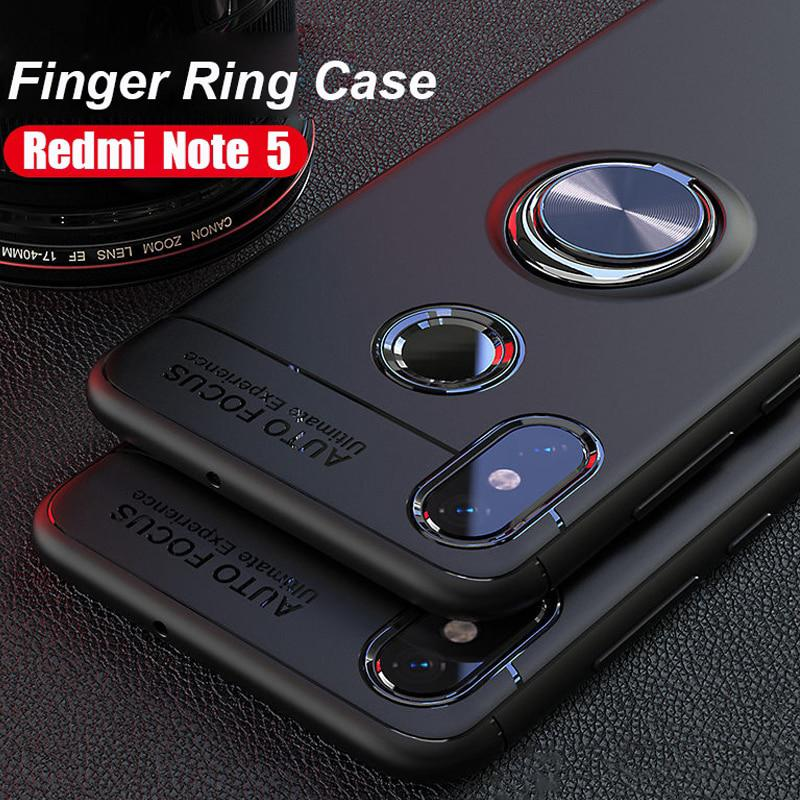 Review Xiaomi Redmi Note 5 4 6 7 4X 4A S2 6 Poco F1 Case Finger Ring Stand Car Holder Soft Case