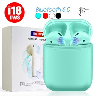 Review New i18 tws Mini Earphones Pop Up Window Touch Control with Mic Bluetooth 5.0 Headphones Stereo Sound VS i10 i11 i12 i14